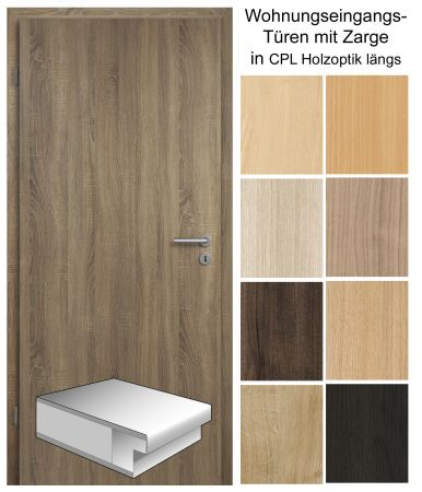 wohnungseingangst r cpl. Black Bedroom Furniture Sets. Home Design Ideas