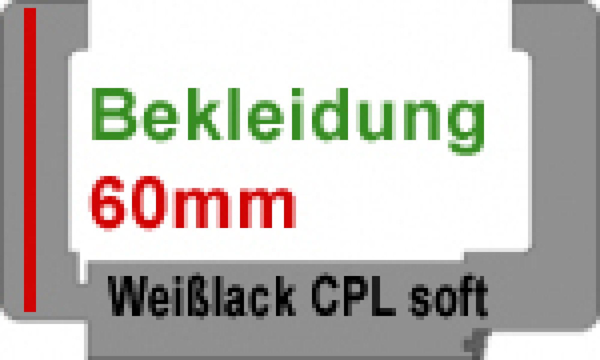 Zarge Rund Oberfl Weisslack Cpl Soft Wandstarke 80 330mm Lagerware