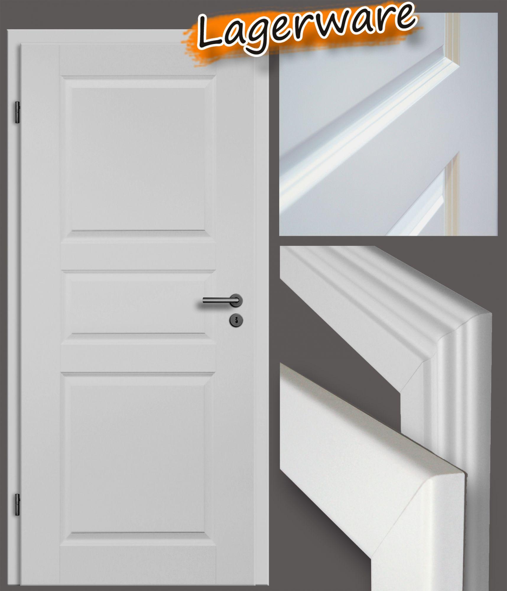 stilt r profiliert mit zarge wei lack. Black Bedroom Furniture Sets. Home Design Ideas